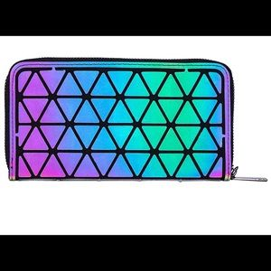 Handbags - Holographic Geometric woman's wallet